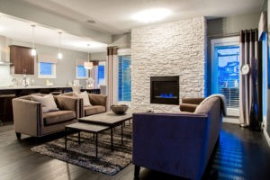 Single family living room, new home builder Edmonton, City Homes Master Builder