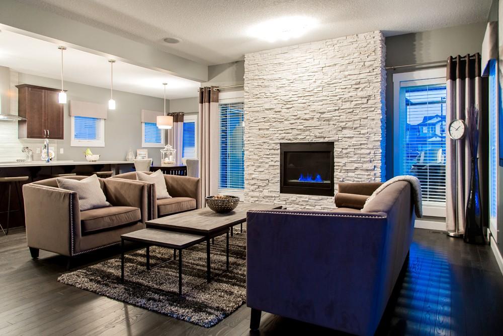 Single family living room, new home builder Edmonton, City Homes Master Builder