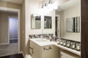 Bathroom in single family new home Edmonton