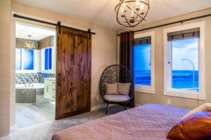 Barn door feature in City Homes Master Builder, Edmonton
