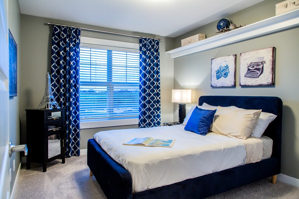 Spare bedroom by Edmonton new home builder City Homes Master Builder