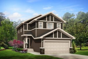 New home model from City Homes in Edmonton