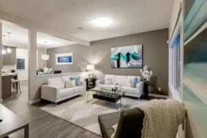 Living room in single family home , Edmonton, City Homes New home builder