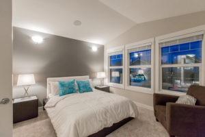Single family home master bedroom in Edmonton