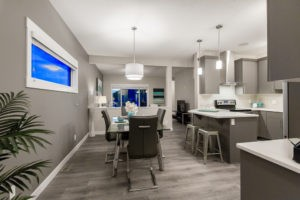 Main living space in single family home built by new home builder City Homes