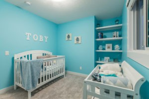 Baby room in new home built by City Homes Master Builder