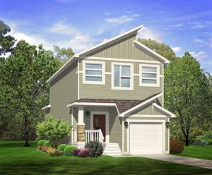 Single family home exterior image, Edmonton area new home builder City Homes Master Builder
