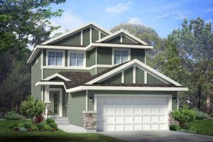 Double attached garage home by Edmonton new home builder City Homes