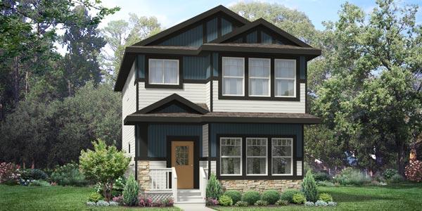 Detached Garage Single Family Home in Edmonton, New Home Builder City Homes Master Builder