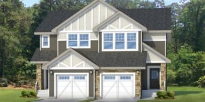 Attached garage duplex in Edmontonbuild by New Home Builder City Homes