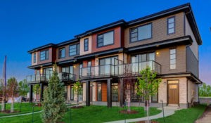 Caspia townhomes in South Edmonton by new home builder City Homes