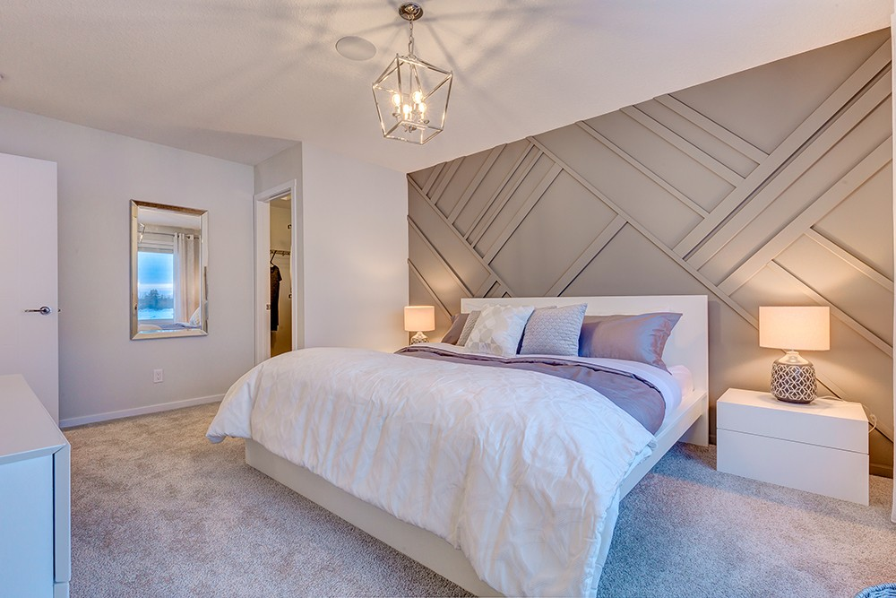 Caspia Townhomes Master bedroom by new home builder City Homes Master Builder
