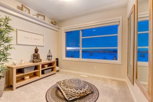 Meditation room in townhome from new home builder City Homes