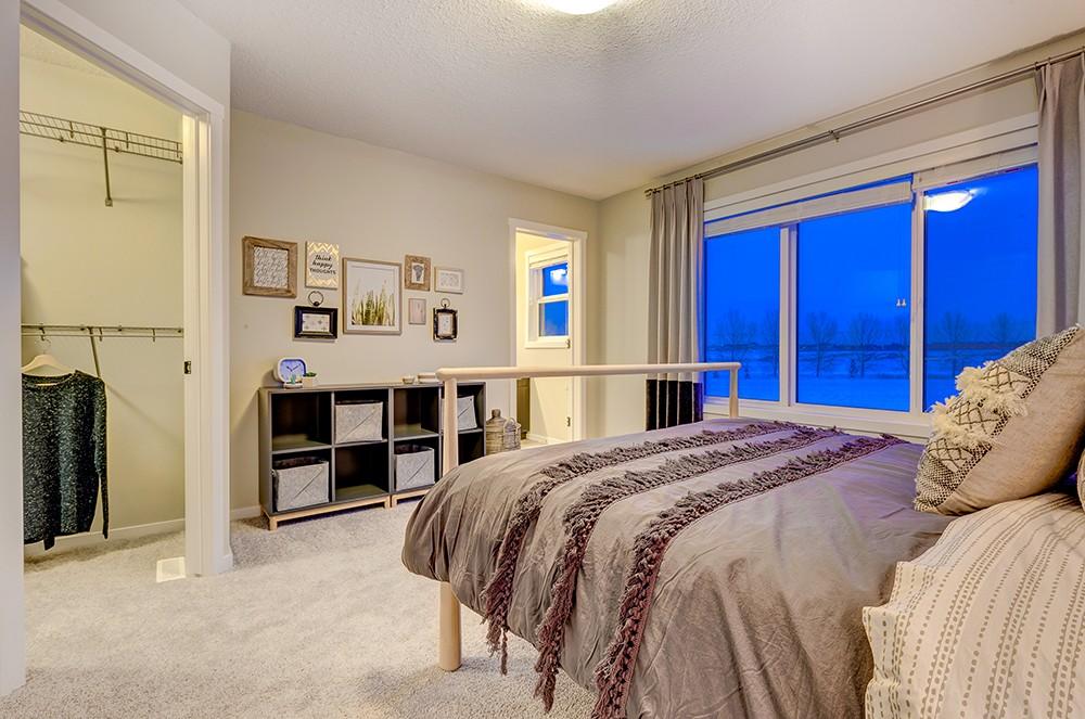 Master bedroom in Caspia Townhome, Edmonton, City Homes