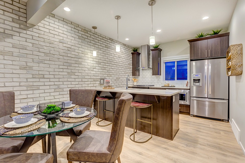 Kitchen from Caspia townhome in South Edmonton