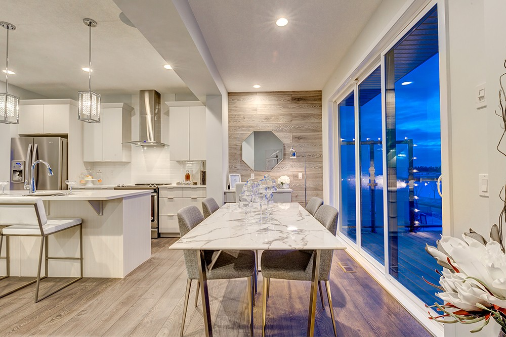 Dining room in South Edmonton townhome