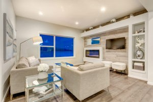 Living room in Caspia townhomes by City Homes Master Builder