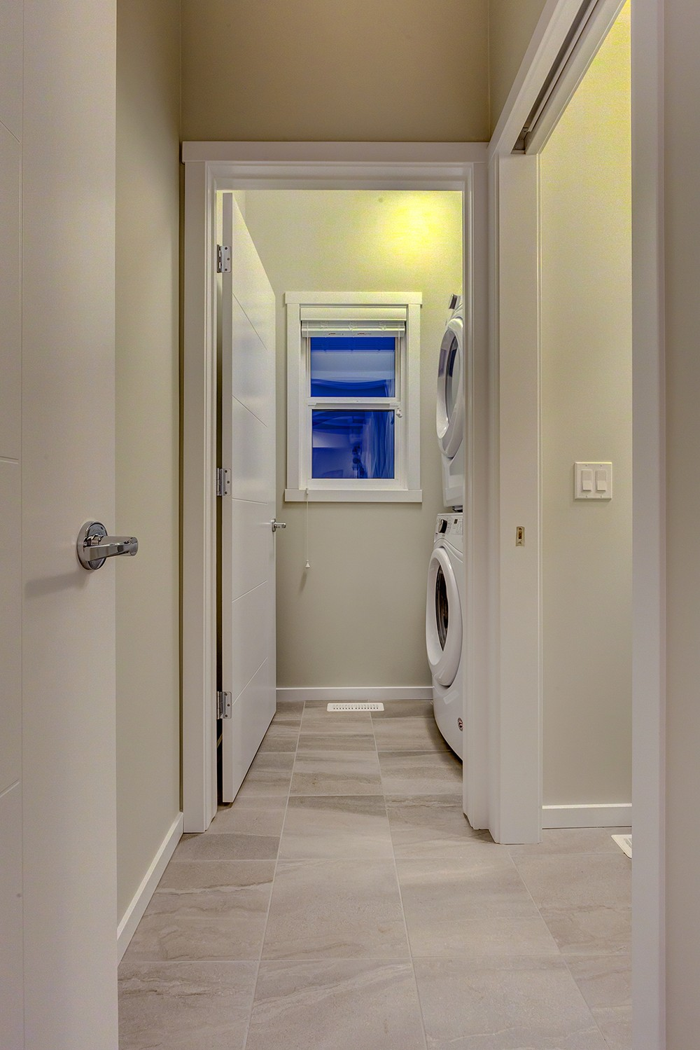 Laundry room in Caspia townhomes, South Edmonton, City Homes Master Builder