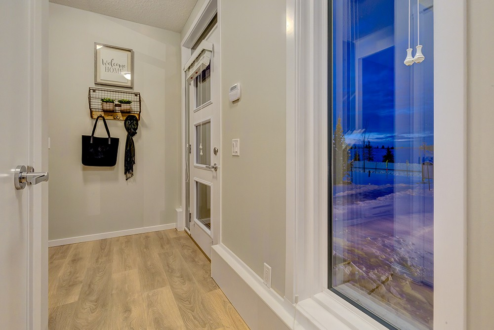 Foyer of Caspia townhomes in south Edmonton