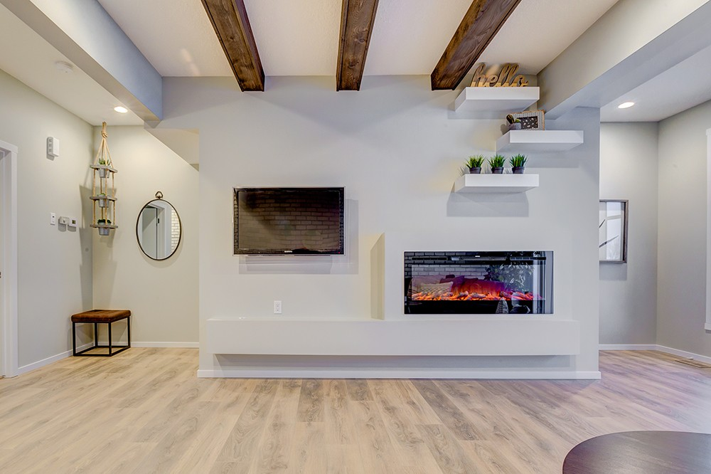 Living Room of South Edmonton Caspia Townhome project.