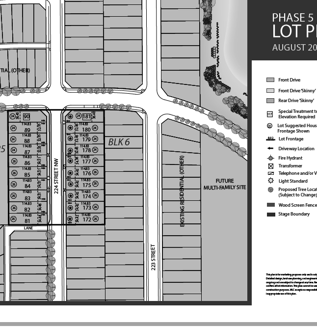 City Homes Secord Heights Phase 5 Map