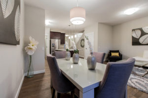 Dining room of new home built by City Homes Master Builder in Edmonton
