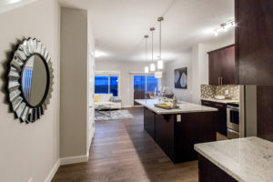 Main living area of home in Edmonton built by new home builder City Homes