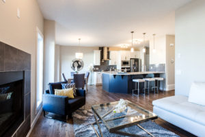 Main living area of new home built by City Homes Master Builder