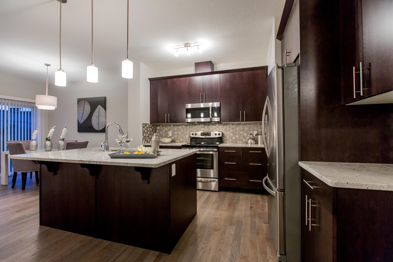 Kitchen build in Single Family Home Edmonton