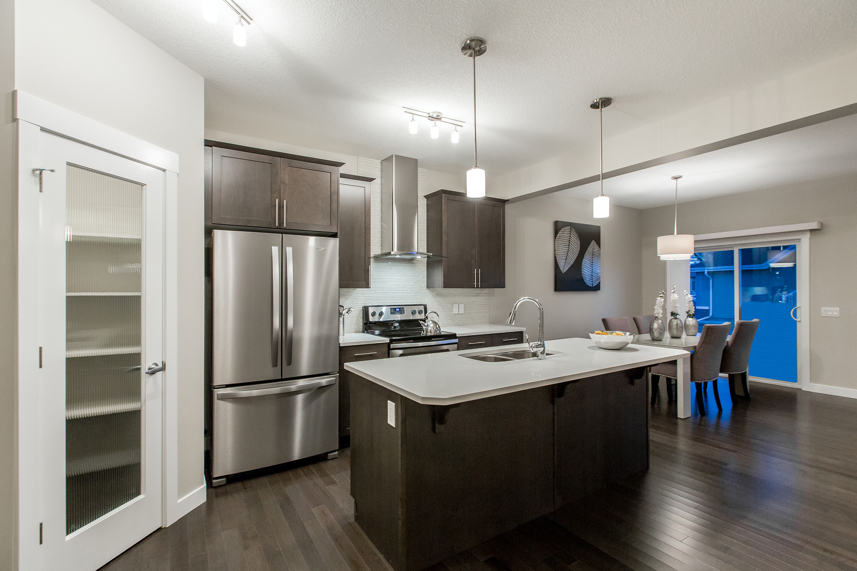 Kitchen of new home in Edmonton by City homes Master Builder