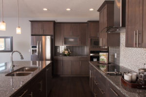 Kitchen in City Homes Master Builder, single family model