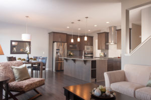 Kitchen Area of new home built in Edmonton
