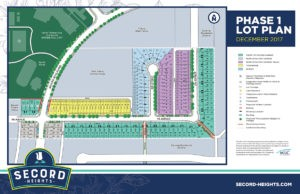 Secord Heights Community Phase 1 Lot Map