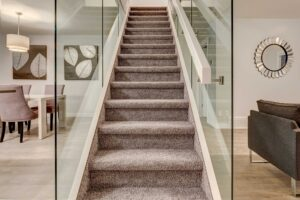 Glass staircase of Kenora single family home