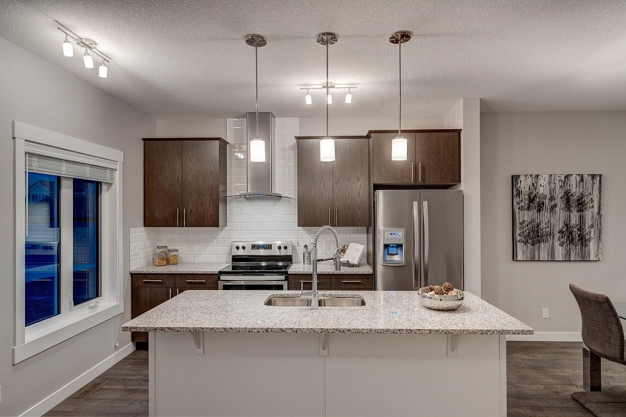 Duplex kitchen by Edmonton home builder City Homes Master Builder