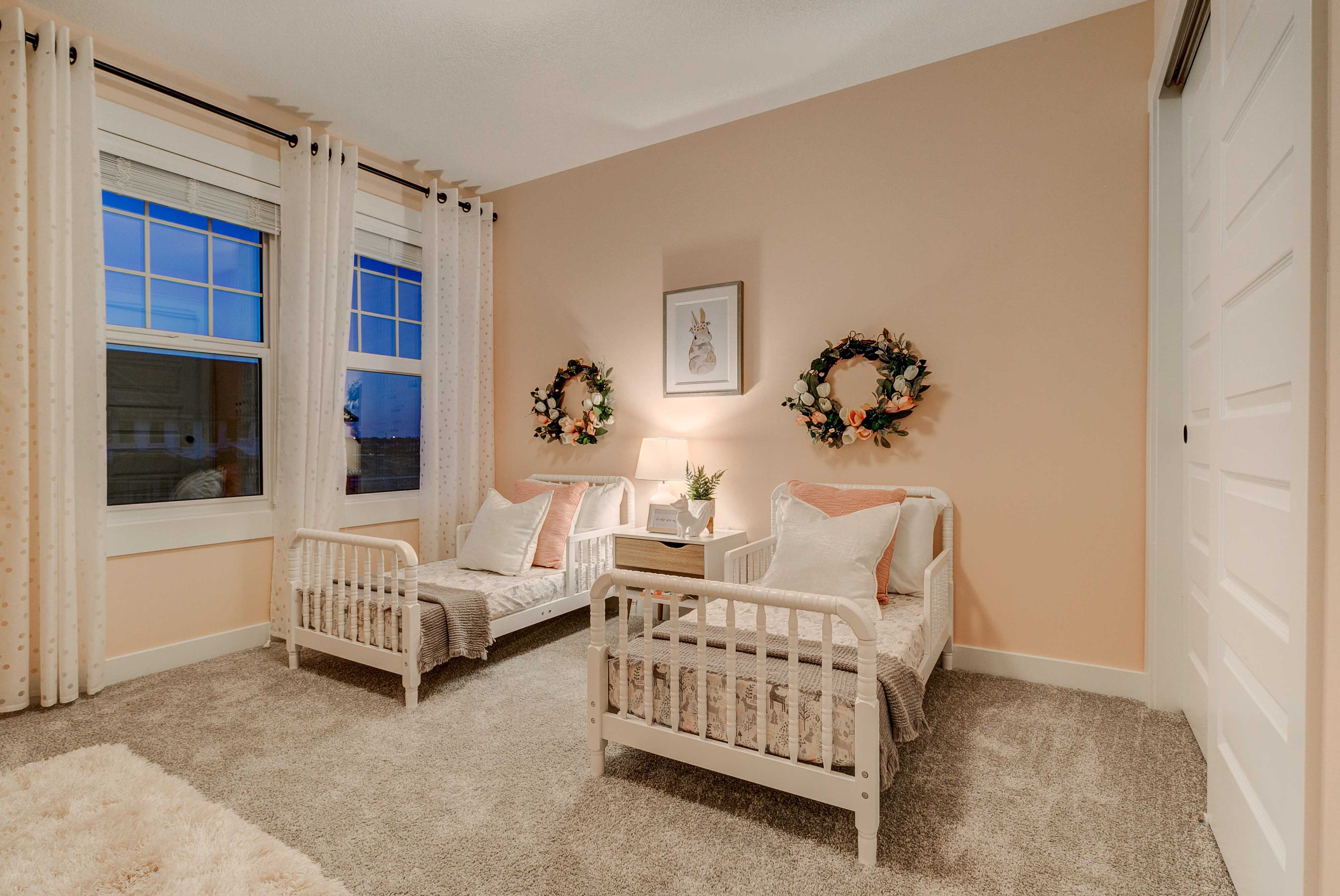 Childrens room in new home model in Secord Heights
