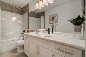Main bathroom of City Homes showhome in Secord Heights