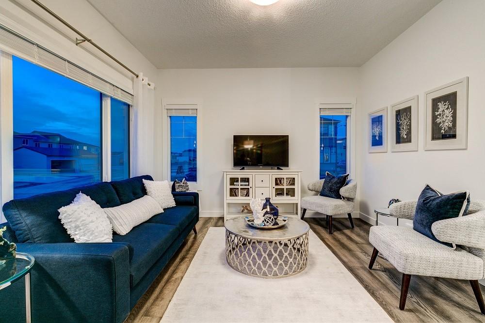Duplex living room in North Edmonton by City Homes Master Builder