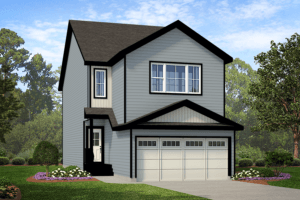 Exterior single family home rendering