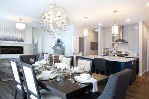main living area in single family home north Edmonton built by City Homes Master Builder