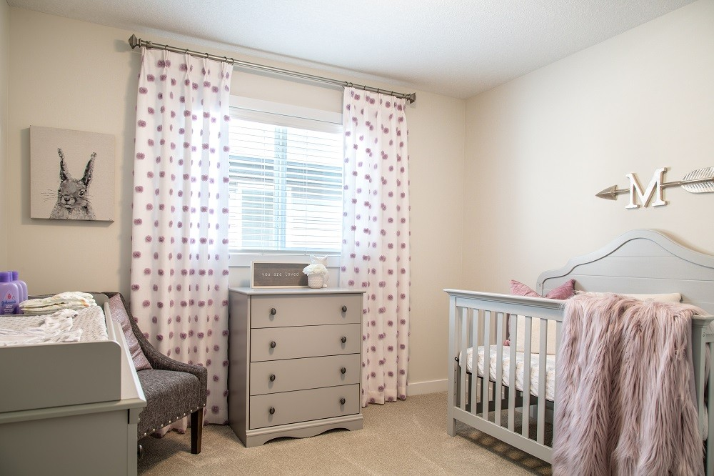 Baby room in single family home in City Homes Master Builder north Edmonton showhome