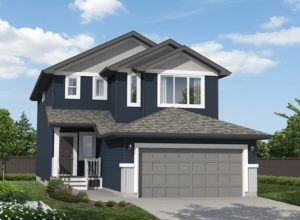 Rendering of a single family home in Edmonton built by City Homes Master Builder
