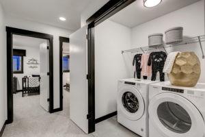 City Homes Castor Model 2nd floor laundry in Edmonton