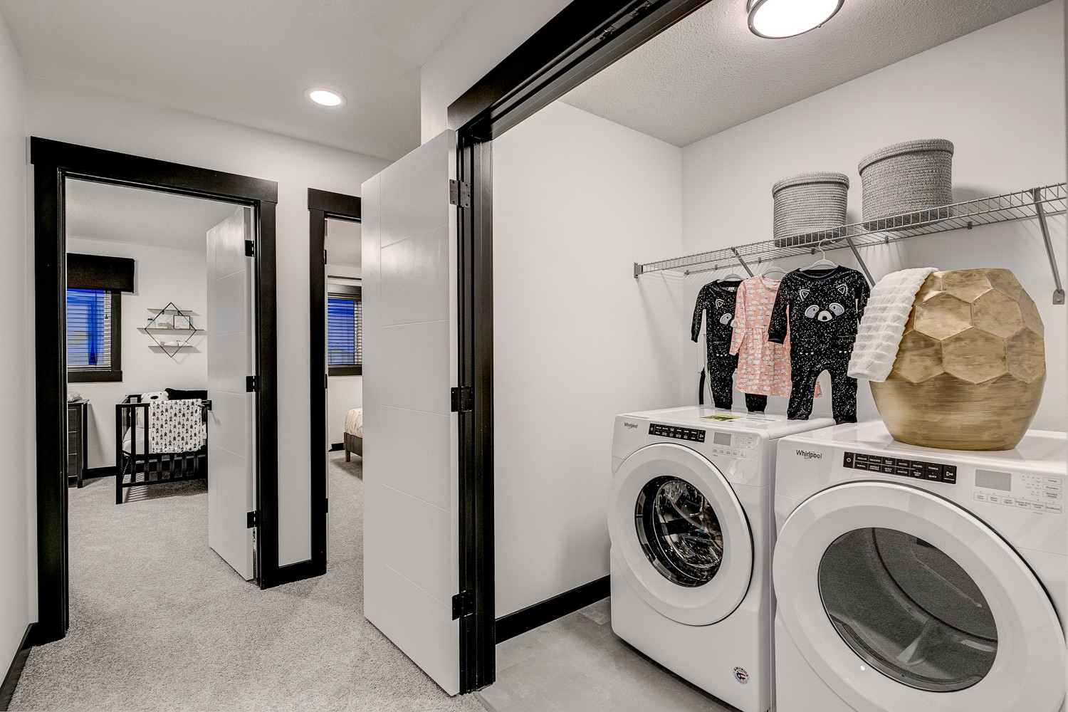 City Homes Castor Model 2nd floor laundry in Edmonton