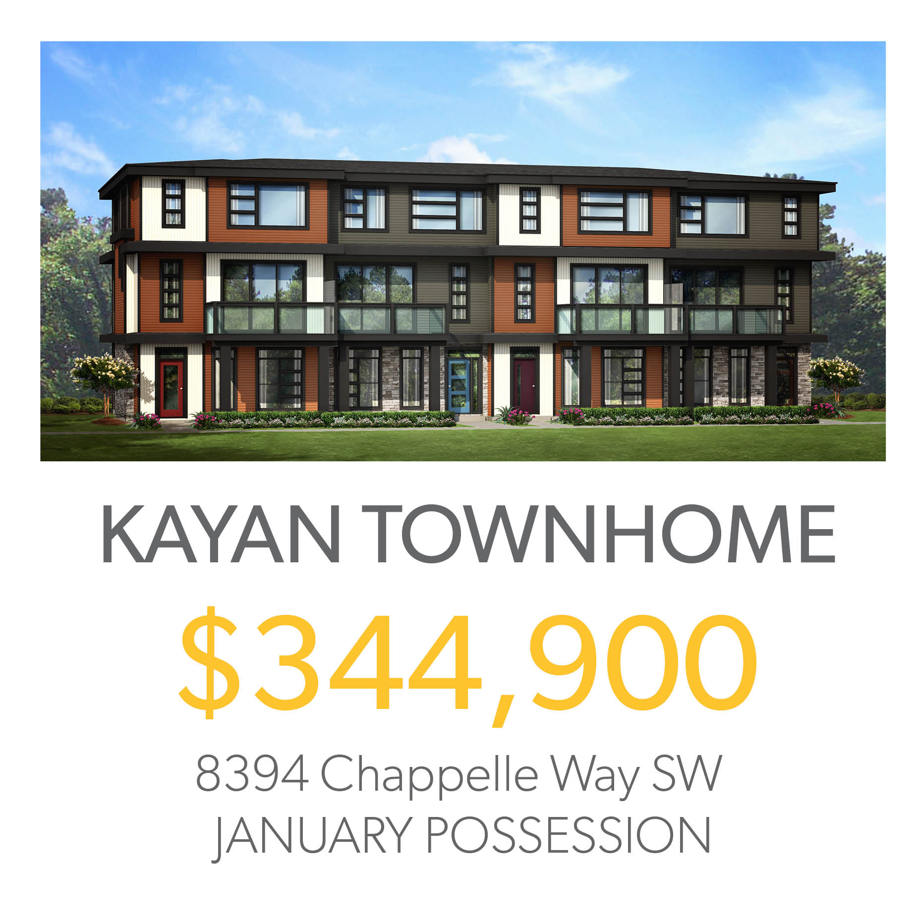 Kayan townhome in south edmonton for sale