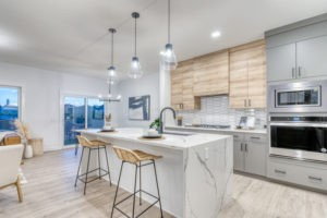 Sicily Showhome in Secord Heights Edmonton Kitchen Photo