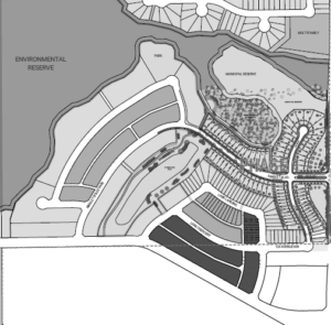 Overall community map in Kinglet, single family and townhomes by City Homes Master Builder