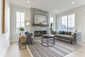 Living Room Layout by Edmonton home builder City Homes Master Builder