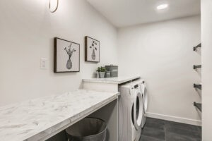 Laundry room photo done by City Homes Master Builder