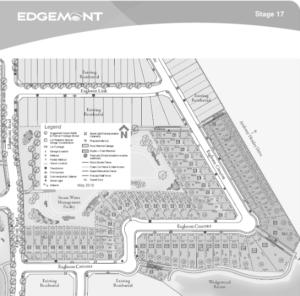 Map of Edgemont from City Homes Master Builder Edmonton Home Builder